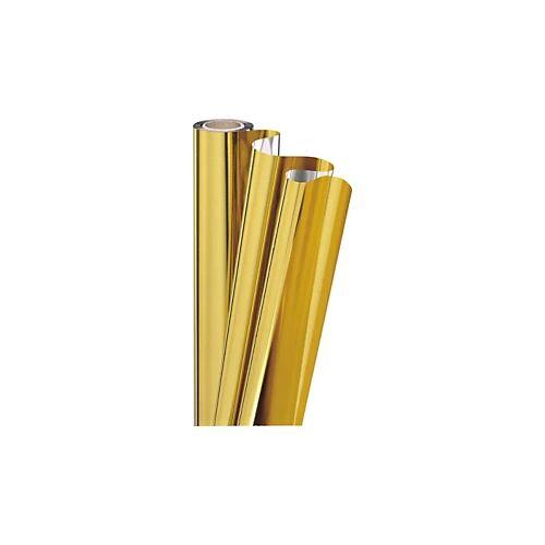 Geschenkfolie in Metalloptik gold