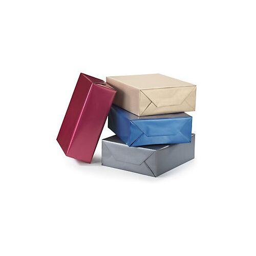 Geschenkpapier mit Perleffekt blau
