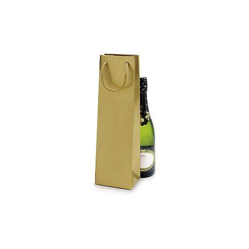 Lack Tasche für eine Flasche gold