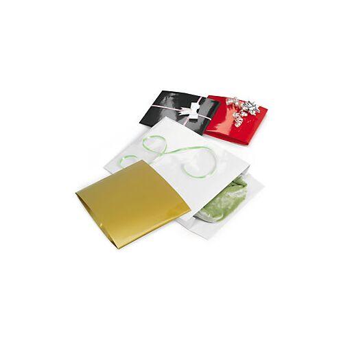 Lackpapier-Beutel mit Griffloch schwarz 38 x 10 x 41 mm