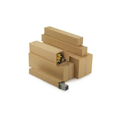 Lange Kartons mit Öffnung an der Stirnseite, 2-wellig