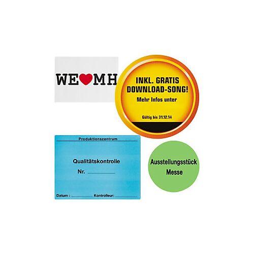 Papier-Etiketten, personalisiert 100 mm Durchmesser