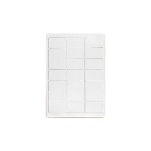 Polyester-Präsentations-Etiketten weiß, 62x89 mm