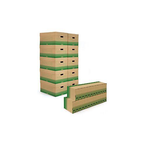 Set braune Archivboxen