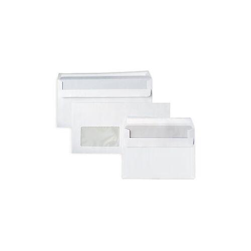 Weisse Briefumschläge 114 x 224 mm mit Fenster