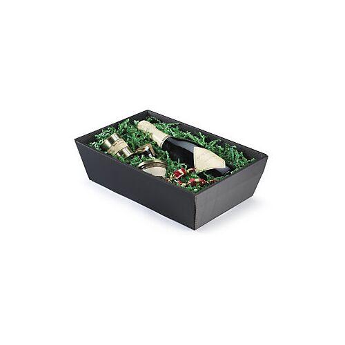 Wellpapp-Geschenkkörbe schwarz 400 x270 x 110 mm