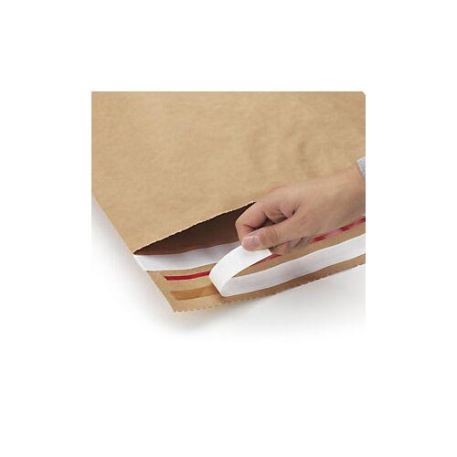 Wiederverschließbare Kraftpapier-Versandbeutel 340 mm x 420 mm