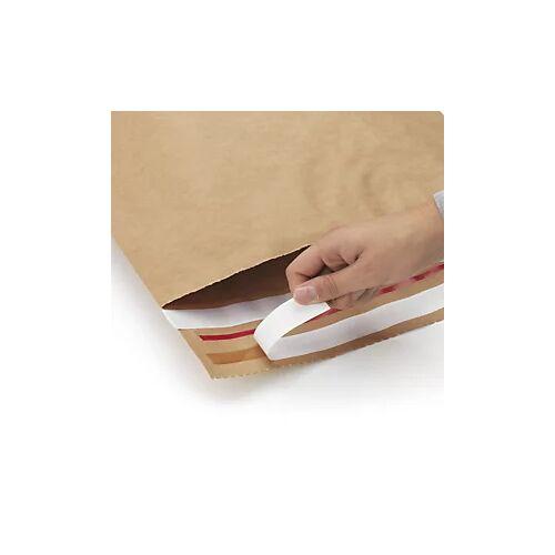 Wiederverschließbare Kraftpapier-Versandbeutel