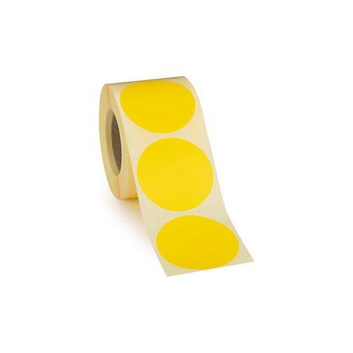 Wiederverwendbare Punkte Gelb D 50 mm