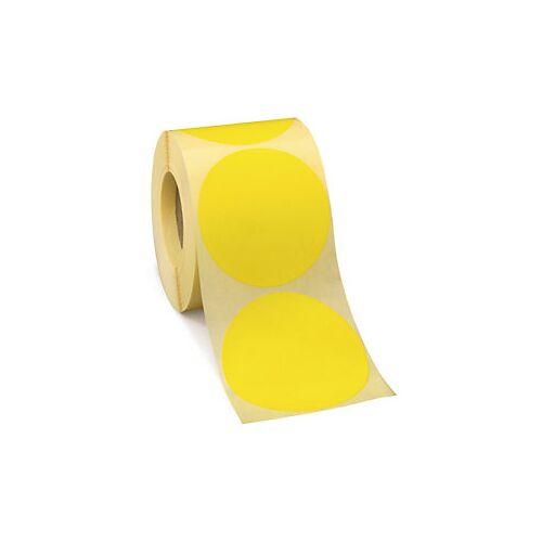 Wiederverwendbare Punkte Gelb D 70 mm