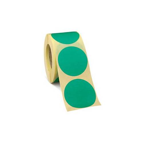 Wiederverwendbare Punkte Grün D 50 mm