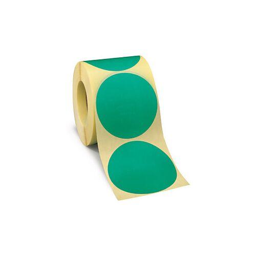 Wiederverwendbare Punkte Grün D 70 mm