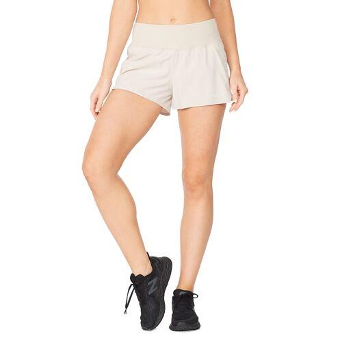 2XU Women's Aero 2-in-1 3'''' Shorts Oatmeal/Oatmeal XL