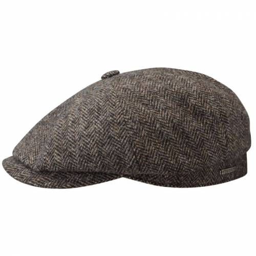 Stetson Hatteras Wool Herringbone Grey Herringbone M