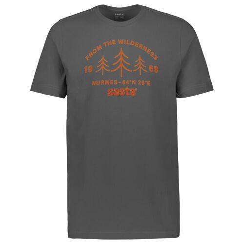 Sasta Men's Wilderness T-shirt Dark Grey S