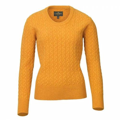 Laksen Women's Burleigh Cable Knit Yellow XL