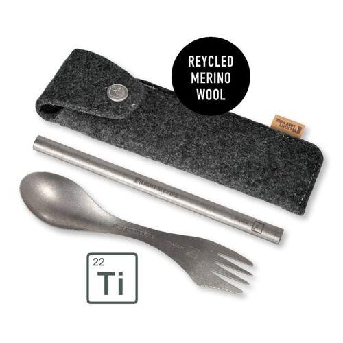 Light My Fire Spork´n Straw Kit Titanium Titanium ONESIZE