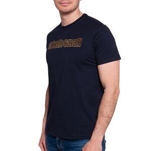 Roberto Cavalli T-Shirt in blau für Herren, Größe: XXL