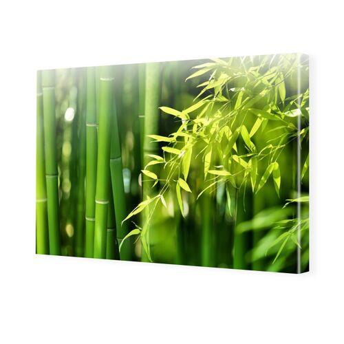 myposter Bambusbild Foto auf Leinwand im Format 80 x 60 cm
