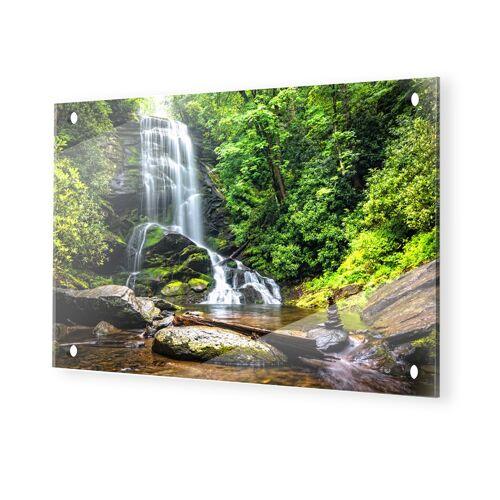 myposter Wasserfall Motiv Glasbilder XXL im Format 120 x 80 cm