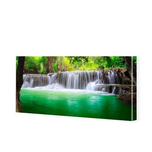 myposter Wasserfall Motiv Leinwandbild als Panorama im Format 120 x 60 cm
