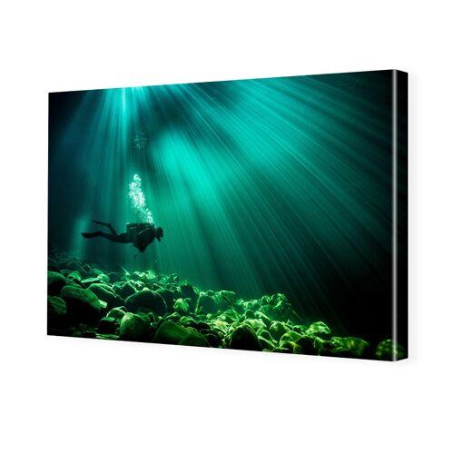 myposter Unterwasserbild Bilder auf Leinwand im Format 120 x 80 cm