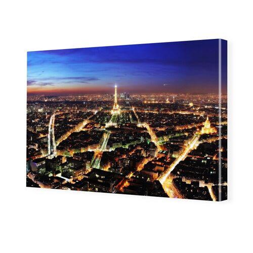 myposter Paris bei Nacht Foto auf Leinwand im Format 60 x 45 cm