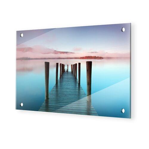 myposter See Bilder Glasbilder XXL im Format 105 x 70 cm