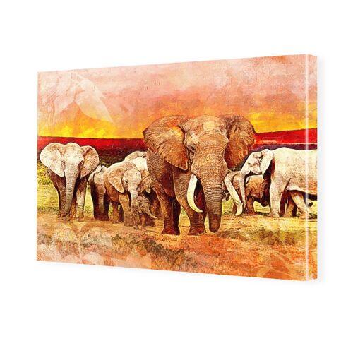 myposter Gemälde Elefant Foto auf Leinwand im Format 80 x 60 cm
