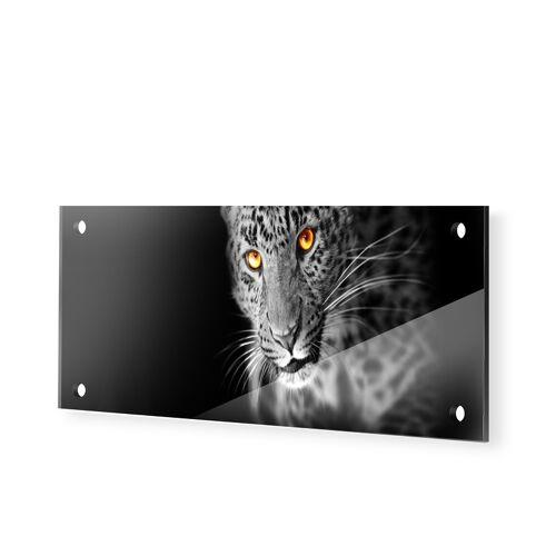 myposter Leopard Panorama Glasbilder als Panorama im Format 125 x 50 cm