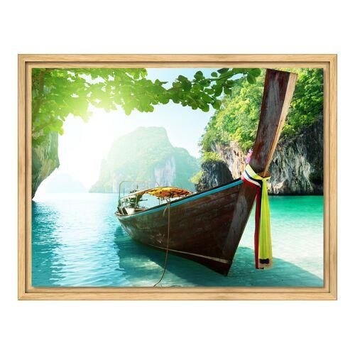 myposter Foto auf Glas im Schattenfugen Rahmen Natur im Format 80 x 45 cm