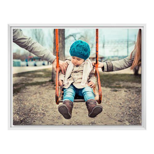 myposter Foto auf Leinwand im Schattenfugen Rahmen für Fotos auf Leinwand in weiß im Format 100 x 75 cm