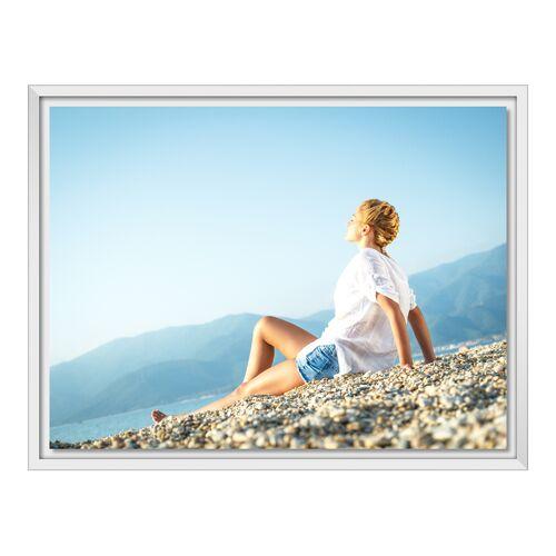myposter Foto auf Glas im Schattenfugen Rahmen in weiß im Format 32 x 18 cm