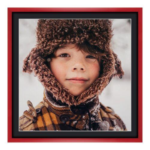 myposter Panoramaposter im Bilderrahmen aus Holz in rot als Panorama im Format 80 x 20 cm