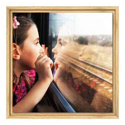 myposter Foto auf Glas im Schattenfugen Rahmen Natur im Format 48 x 27 cm