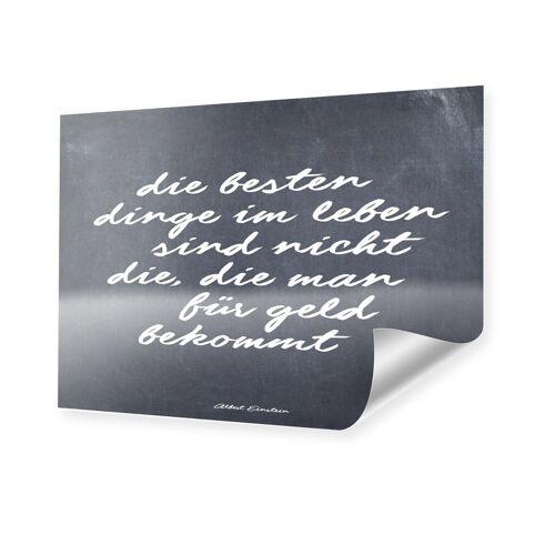 myposter Einstein Zitat Poster im Format 70 x 50 cm