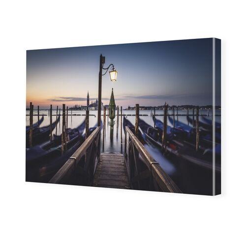 myposter Das erste Tageslicht Leinwanddruck im Format 80 x 45 cm