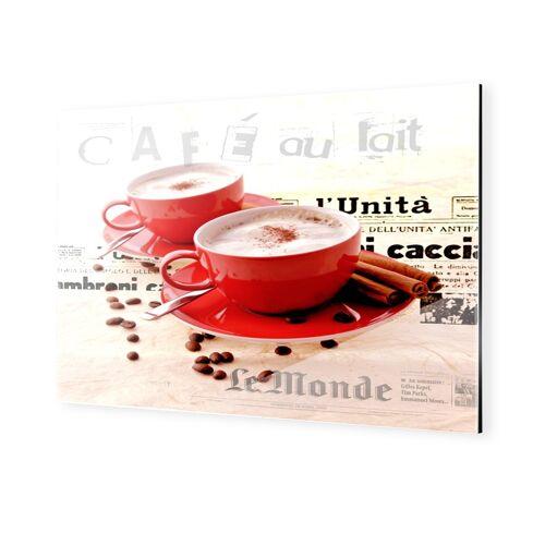 myposter Wandbilder Kaffee rot Dibond hinter Acryl im Format 90 x 70 cm