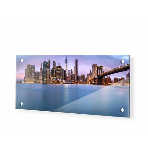 myposter Manhattan Panorama Glasbilder als Panorama im Format 175 x 70 cm