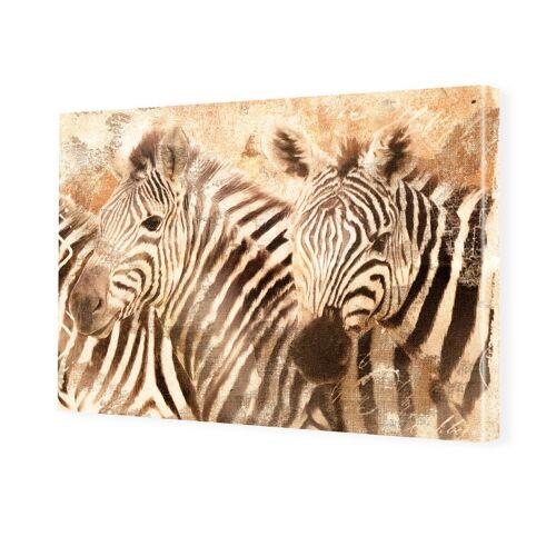myposter Zebra Bilder Bilder auf Leinwand im Format 120 x 80 cm