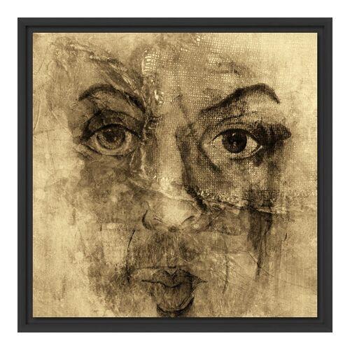 myposter Portrait Motiv Foto auf Leinwand im Schattenfugen Rahmen für Fotos auf Leinwand in schwarz im Format 80 x 60 cm