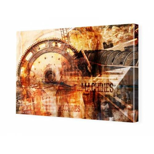 myposter Steampunk Bild Bilder auf Leinwand im Format 120 x 80 cm