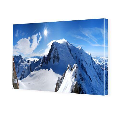 myposter Mont Blanc Bilder Leinwand drucken im Format 128 x 72 cm