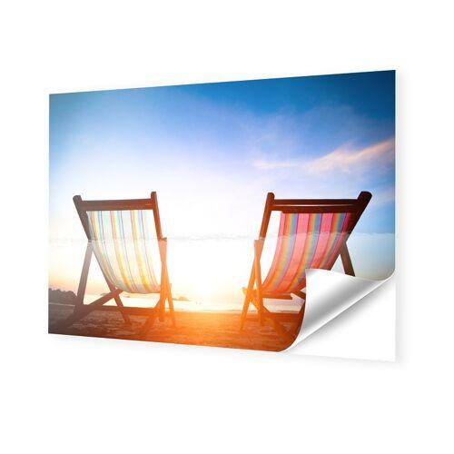 myposter Strandliegen Fotos auf Folie im Format 90 x 60 cm