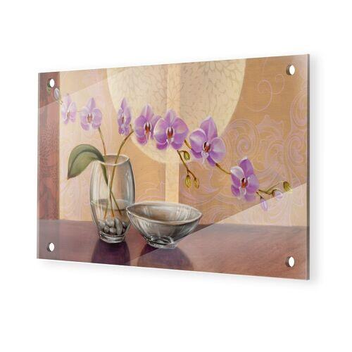 myposter Orchideen Gemälde Glasbilder im Format 75 x 50 cm