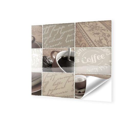 myposter Bilder von Kaffee Fensterfolie quadratisch im Format 120 x 120 cm