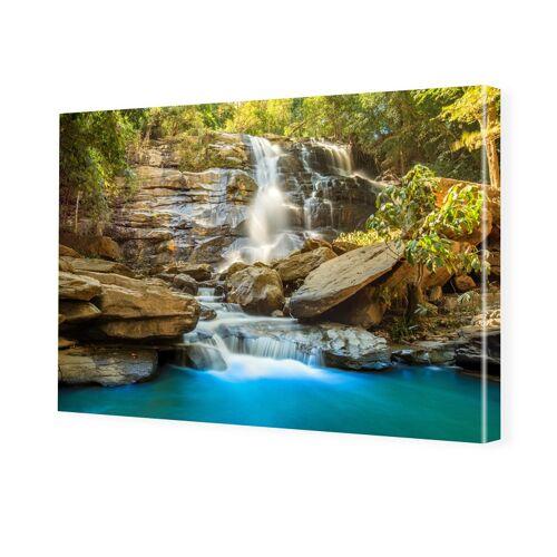 myposter Wasserfallbild Bilder auf Leinwand im Format 120 x 80 cm