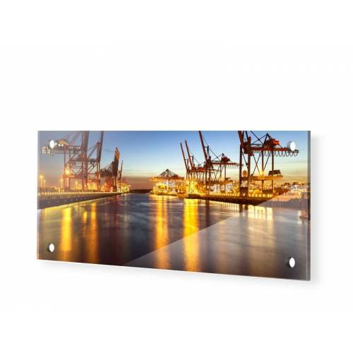 myposter Hamburg Panorama Glasbilder als Panorama im Format 150 x 60 cm