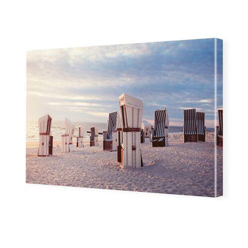 myposter Bild Strandkörbe Bilder auf Leinwand im Format 120 x 80 cm