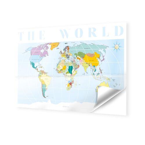 myposter Weltkarte Fotos auf Folie im Format 120 x 80 cm